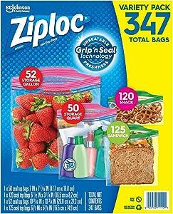 Ziploc Storage Bags, Various Sizes, 347 ct. ( 1 pack )