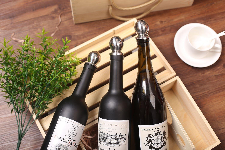 Flaschenverschlusse Weinstopfen Weinverschluss Edelstahl Sektverschluss Champagner Verschluss Weinflaschenverschlu/ß fur Rotwein Wein Champagne Bier 2er Set