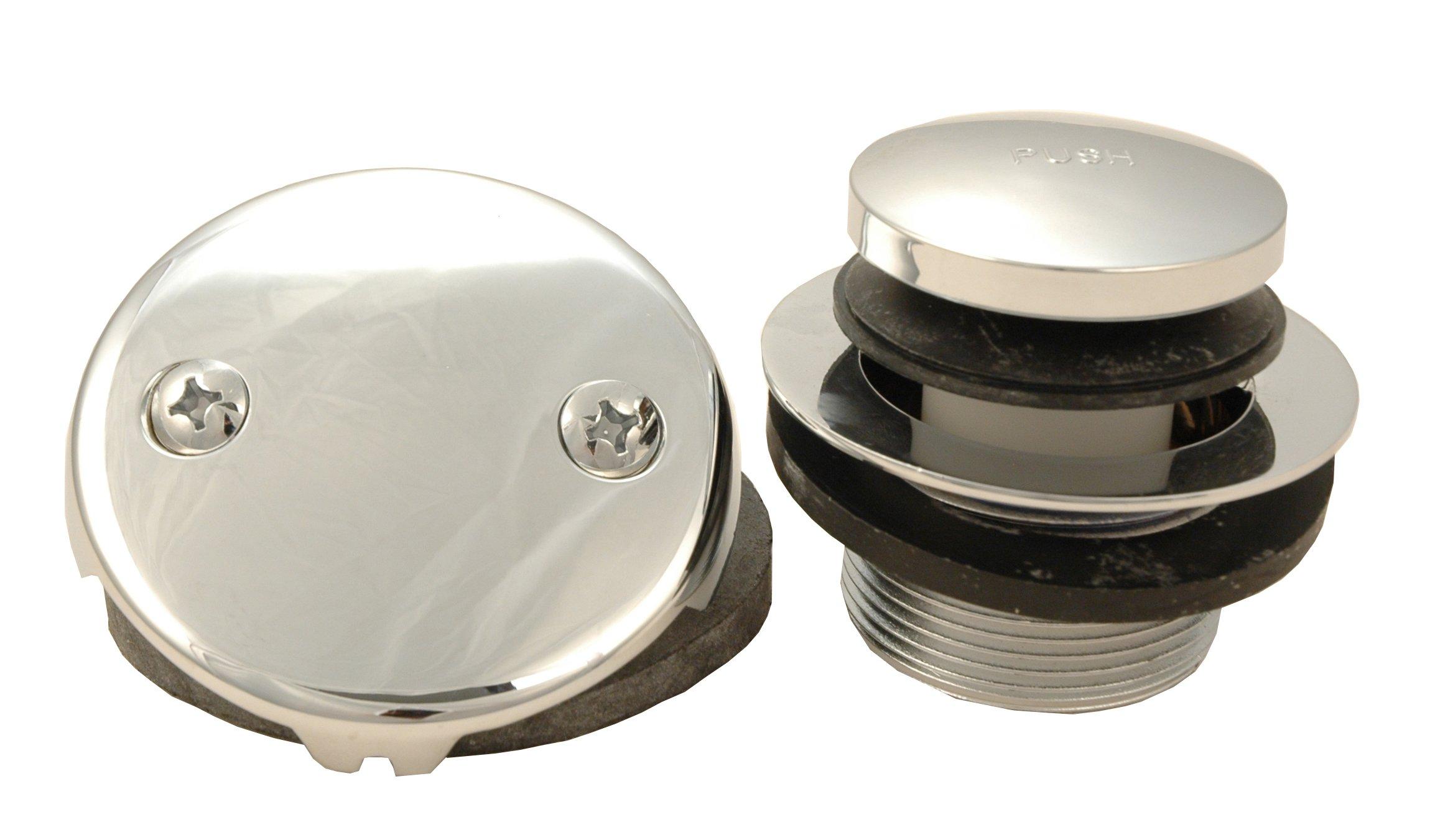 Bathtub Replacement Drain Kit - Chrome Finish, Tip Toe Type - By Plumb USA 51073