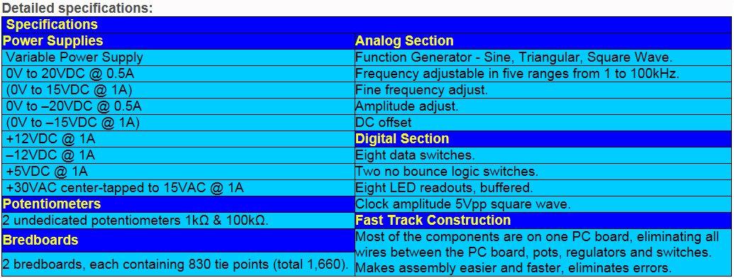Elenco XK550K  Variable Power Supply XK-550 in Kit Form by Elenco (Image #3)