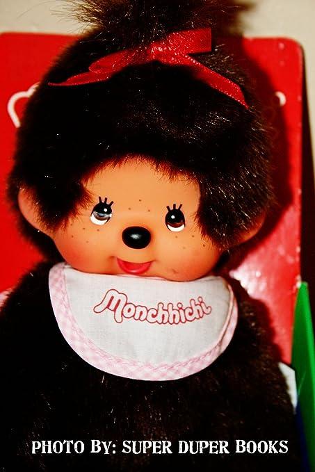 Amazon.com: Monchhichi café Furry bebé con babero y lazo ...