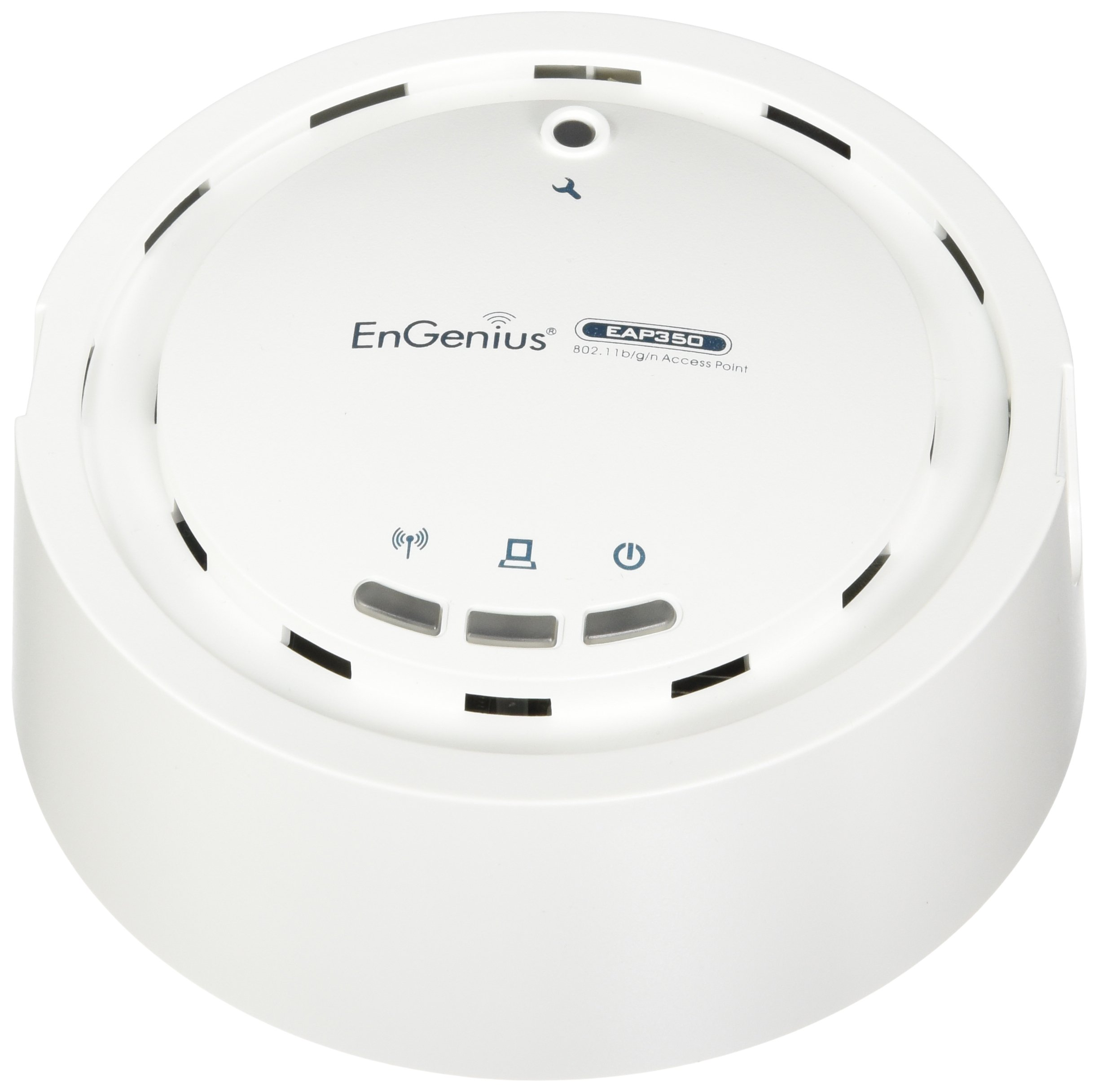 EnGenius 802.11n 2x2, 2.4 GHz, high-powered, long range, 29 dBm, Indoor Ceiling-mount Wireless AP with integrated Antennas, gigabit port, Indoor N300 Access Point with PoE Injector (N-EAP350 KIT)