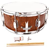 Mecor 14x5.5 Inch Marching Snare Drum Dark Wood Shell Percussion Poplar
