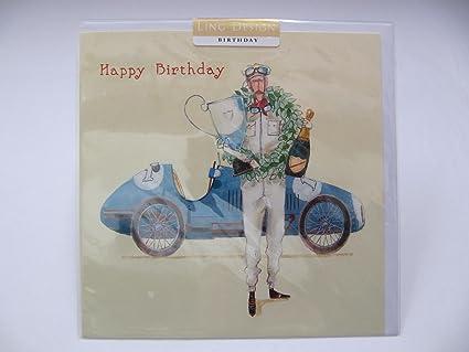 Birthday Cards General Fantástica tarjeta de felicitación de cumpleaños con diseño de carrito de bebé,