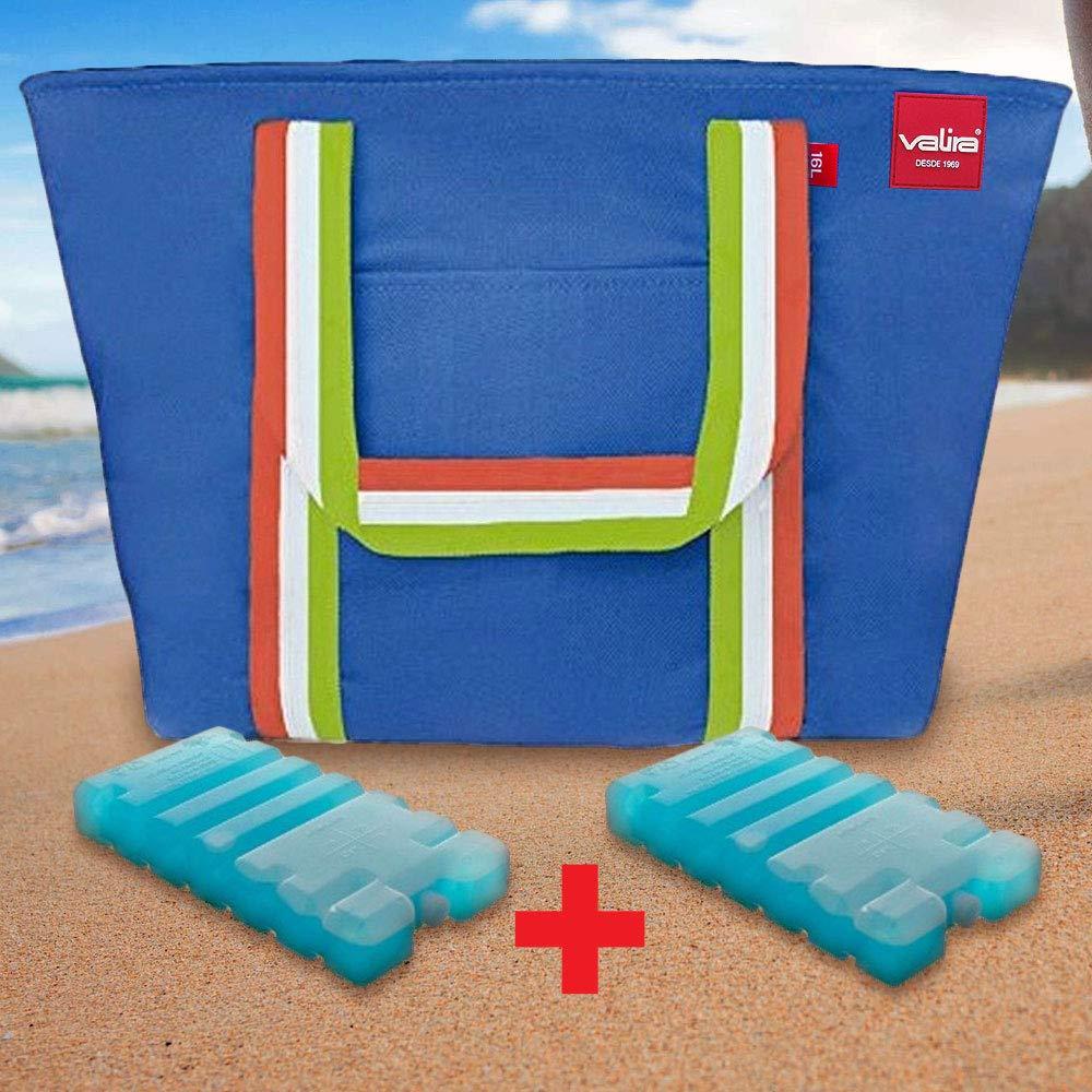 Set Valira Playa - Bolsa termica 16 L + 2 acumuladores de frío ...