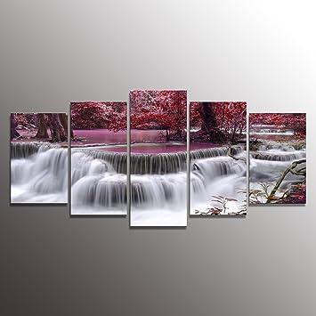 Formarkor Art Canvas Print For Living Room Decoration Kx00202 Framed Stretched 5 Panels