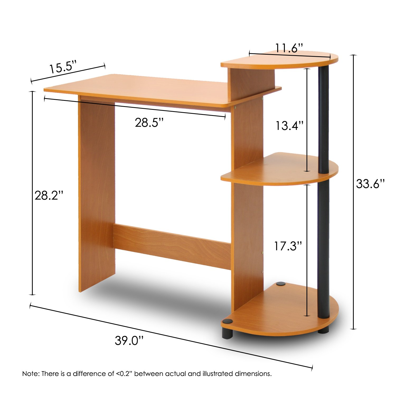 Amazon Furinno LCBK pact puter Desk Light Cherry