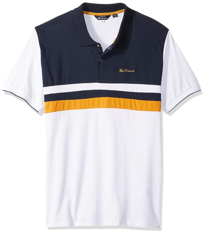 Ben Sherman Hombre BC19S54447 Manga Corta Camisa Polo - Blanco ...