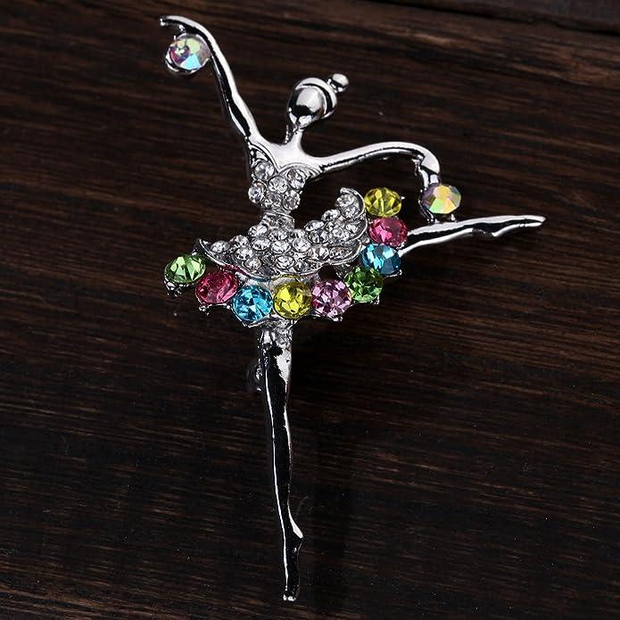 0eadb637da65 YAZILIND Joyería de plata dulce chapado coloridas Princesa Broches y  prendedores para el banquete de boda del cristal  YAZILIND JEWELRY LTD   Amazon.es  ...
