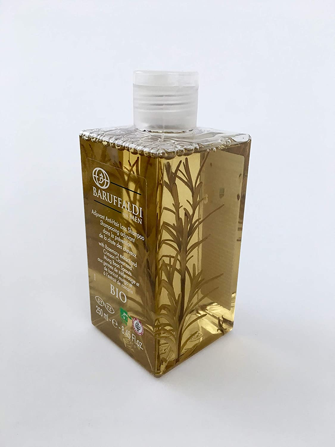 Champú Coadyuvante Anticaída de Cabello BIO con Extracto de Romero 250 ml - BaruffaldiBio for Men Made in Italy: Amazon.es: Salud y cuidado personal