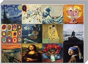 Creanoso Famous Classic Arts Deco Stickers (10-Sheet) – Total 120 pcs (10 X 12pcs) Individual Small Size 2.1 x 2. Inches, Unique Designs DIY Decoration Art Decal for Children