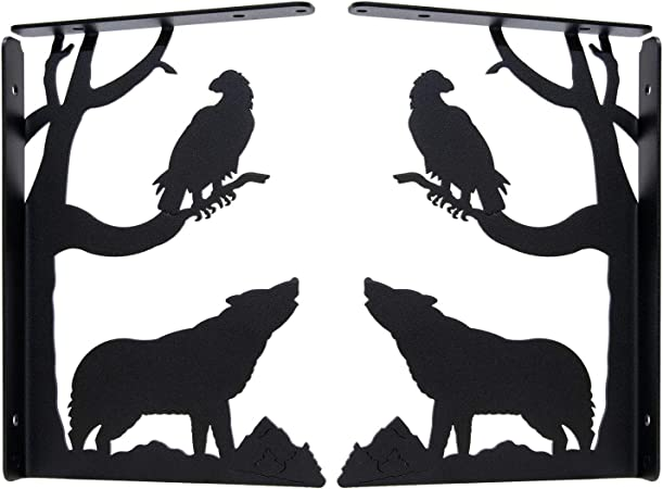 Howling Wolf Shelf*Wood crystal Shelf*rustic Shelf