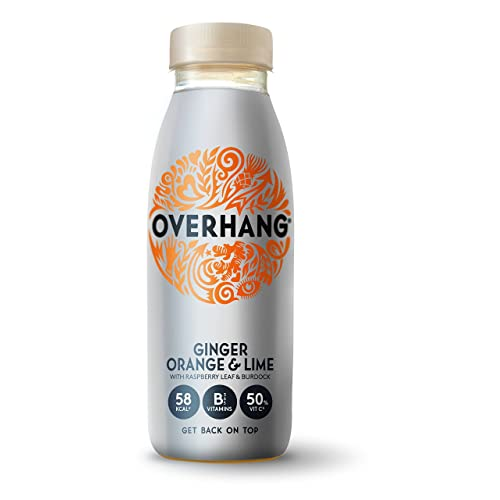Overhang: Orange, Lime, Ginger and Botanicals Rivitalising Drink with 50% RDA Vit C (Pack of 12 x 250ml)