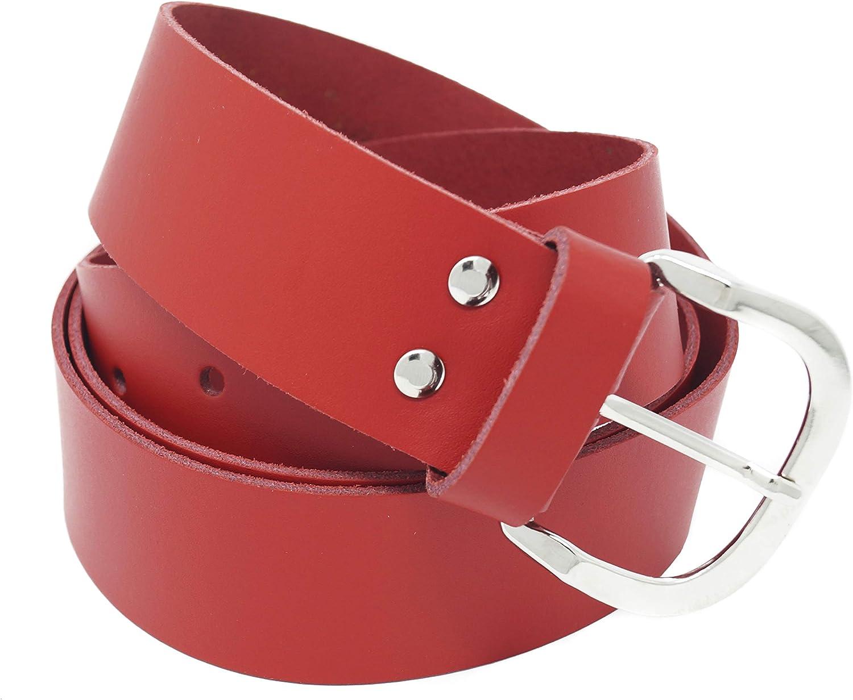 Xeira Cintura in vera pelle per donna e uomo Nero//Marrone//Rosso//Bianco//Grigio//Bordeaux Larghezza 4 cm Fatto in Germania