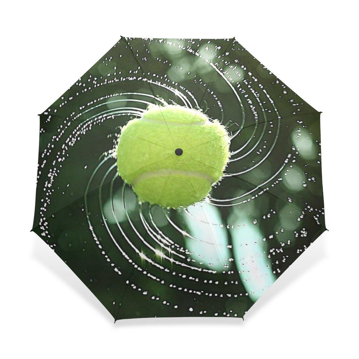 baihuishop防風ゴルフ傘、コンパクトで旅行for Easy Carryingスポーツ雨傘 – 強力なフレーム壊れないテニスパターン   B01FXH9UK0