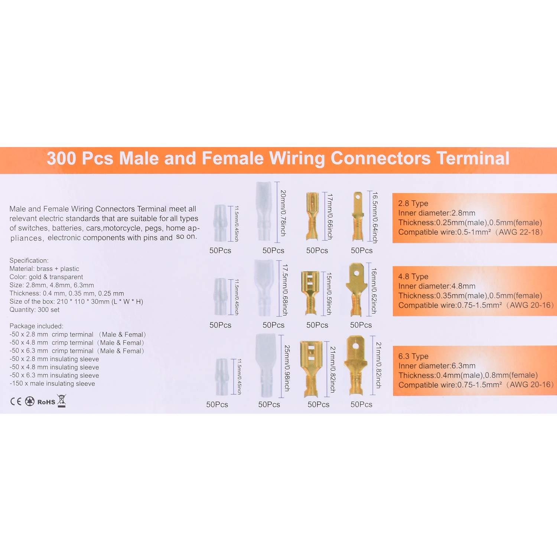 BONROB Pince /à Sertir Avec 600Pcs Connecteurs Cliquet Pour Cosses Pr/é-Isol/ées Kit de Connecteurs /à Gaine Thermor/étractable BO007
