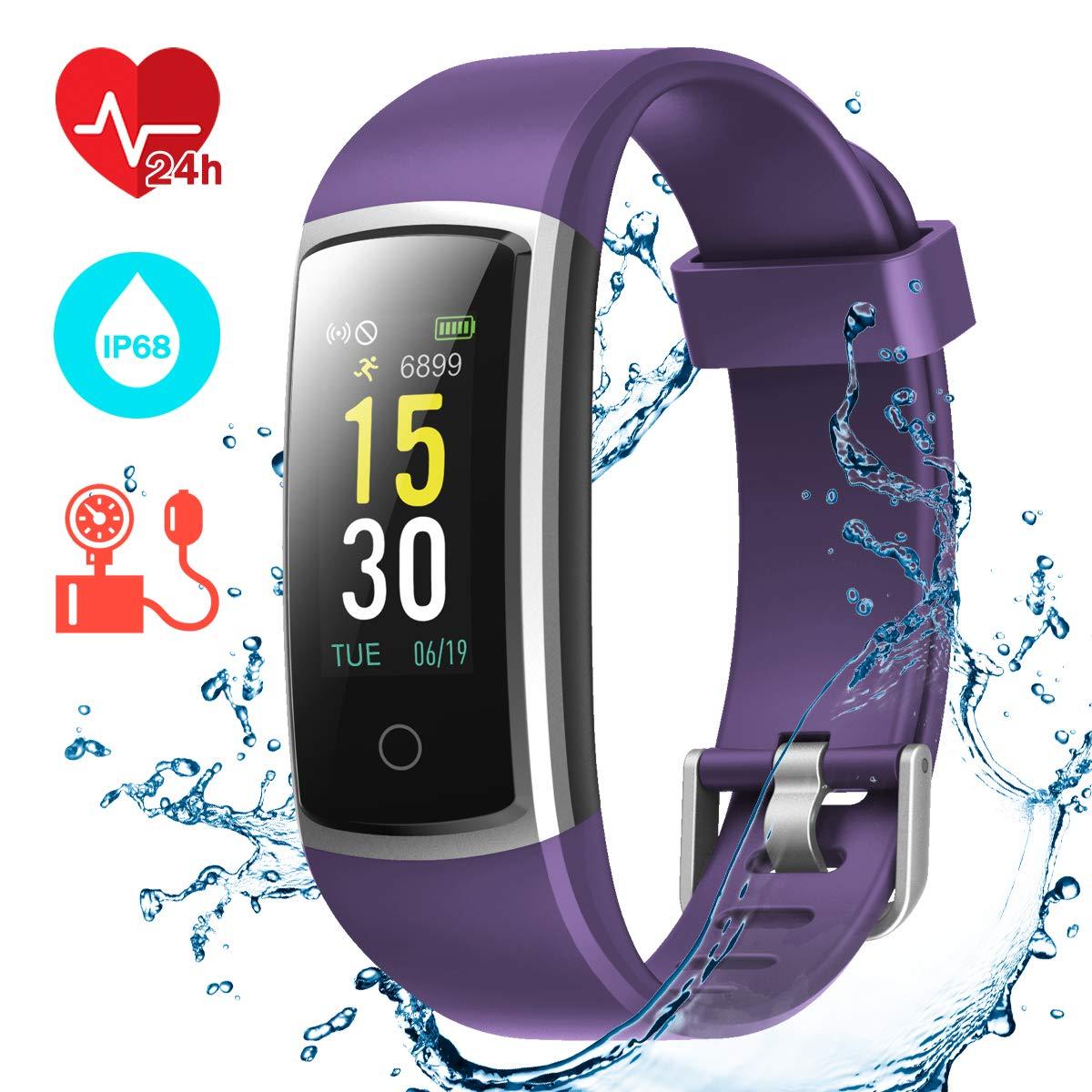 CHEREEKI Fitness Tracker, IP68 Waterproof Activity Tracker with Blood Pressure