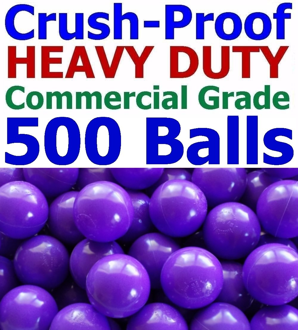 My Balls Pack of 500 Jumbo 3'' Purple Color Commercial Grade Ball Pit Balls - Air-Filled Crush-Proof Phthalate Free BPA Free PVC Free Non-Toxic Non-Recycled Plastic