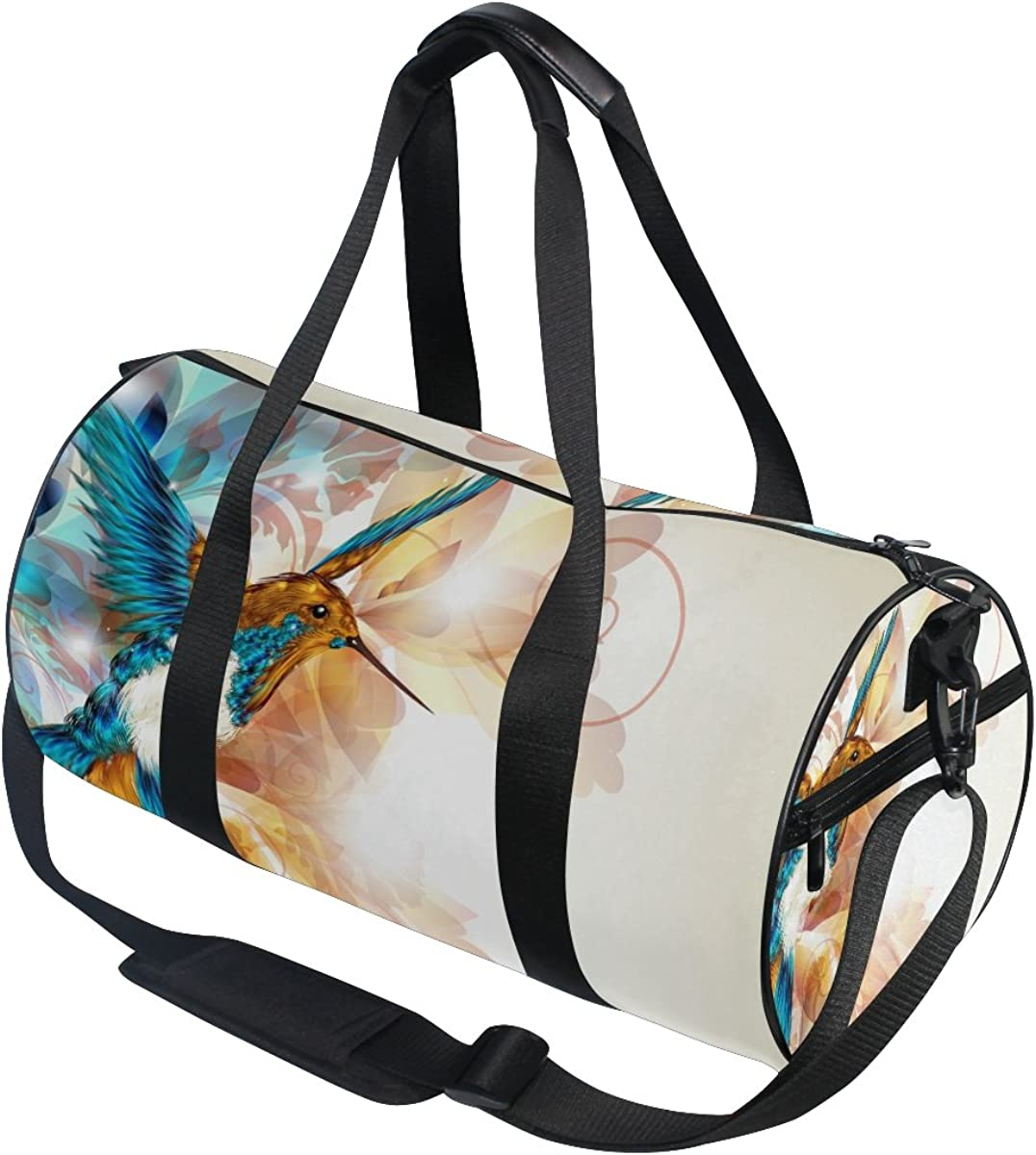 Evolutions Colorful Realistic Hummingbird Travel Duffel Bag Sports Gym Bag For Men /& Women