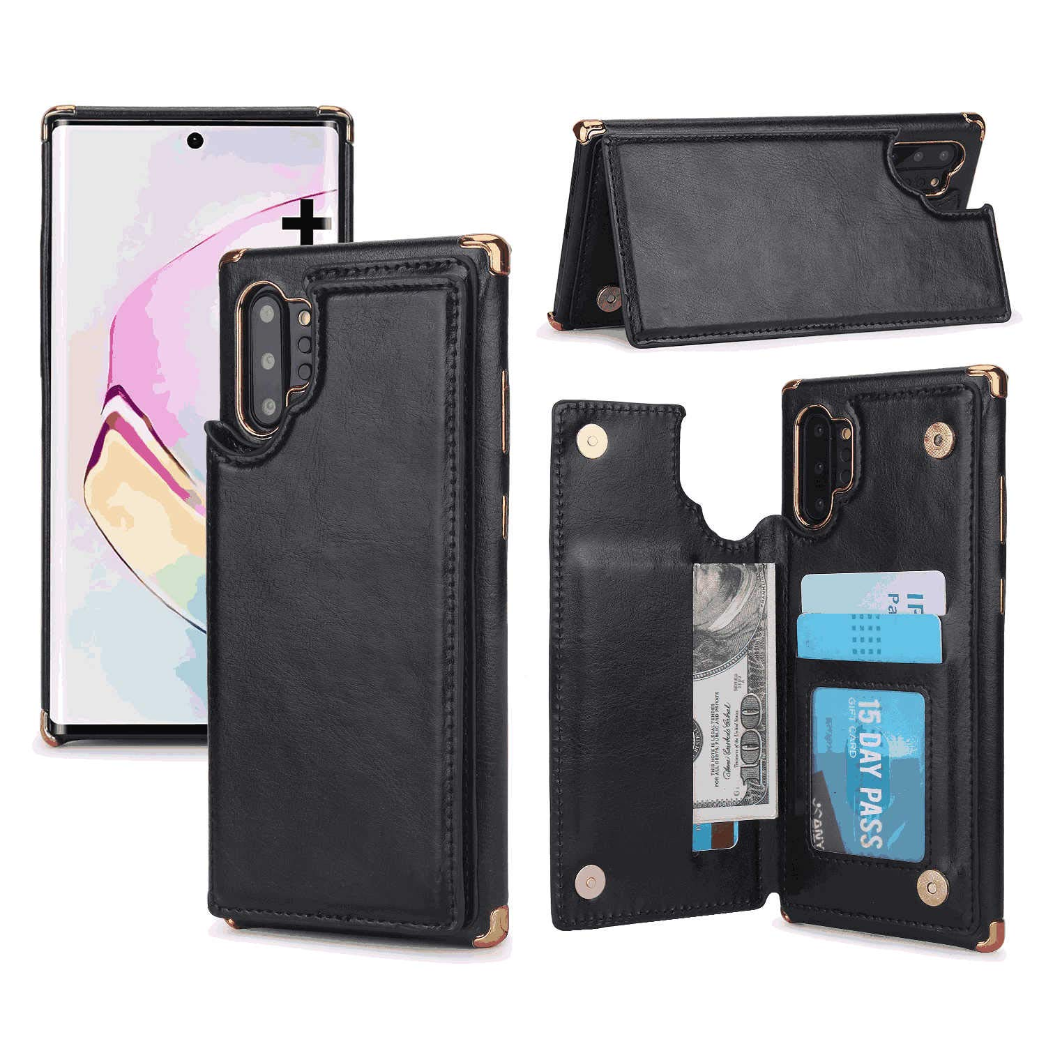 Cover for iPhone 7 Plus Leather Kickstand Card Holders Wallet Cover Extra-Durable Business with Free Waterproof-Bag Business iPhone 7 Plus Flip Case