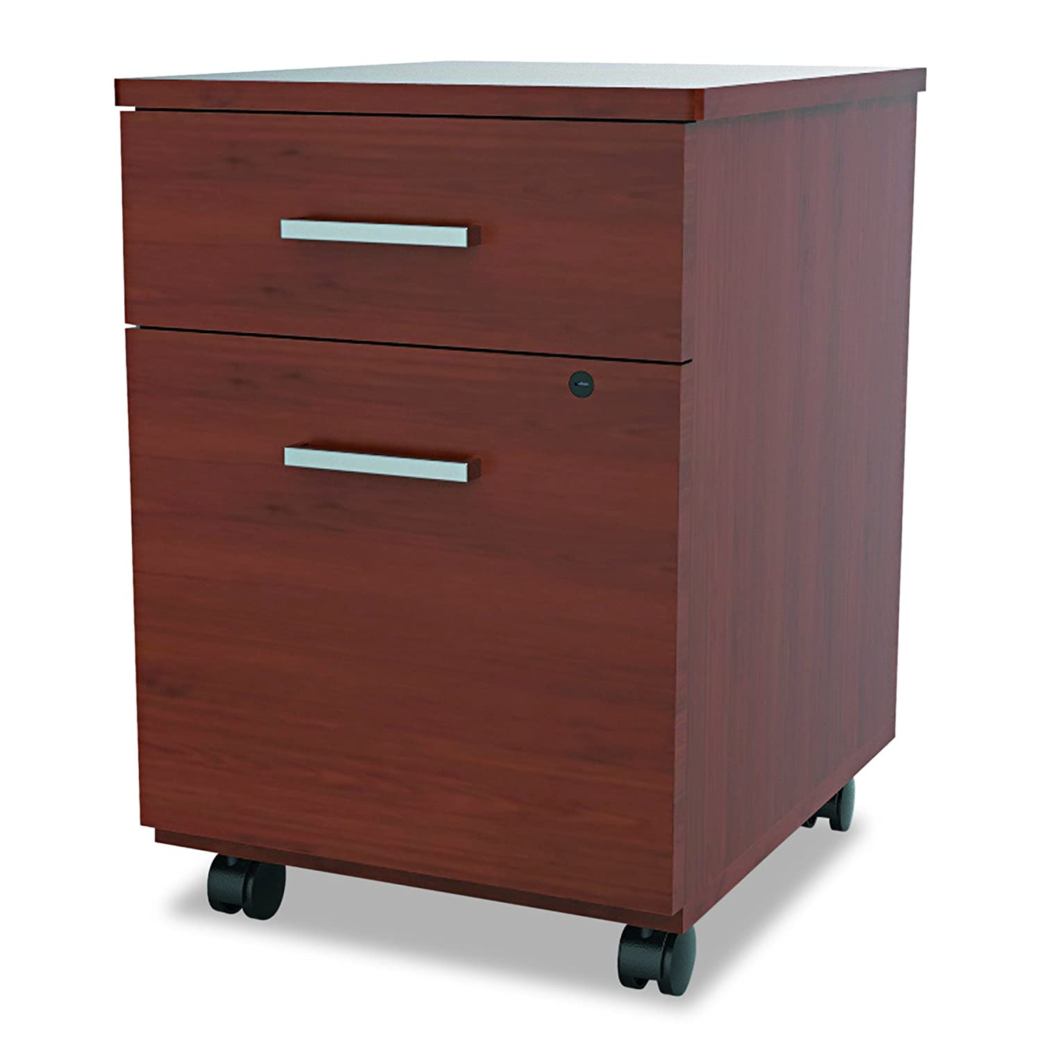 Linea Italia SV752CH Seven Series Mobile Pedestal File, Box/File Drawer, Cherry United Stationers LITSH752CH
