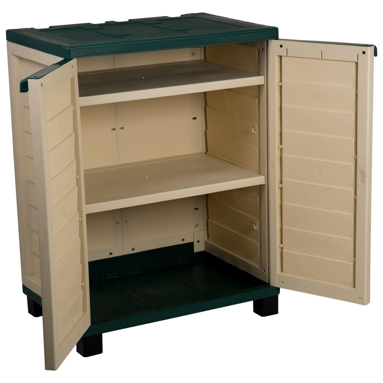 Catral 63010010 - Armario 2 estantes, 75 x 52.5 x 98.5 cm, color marrón