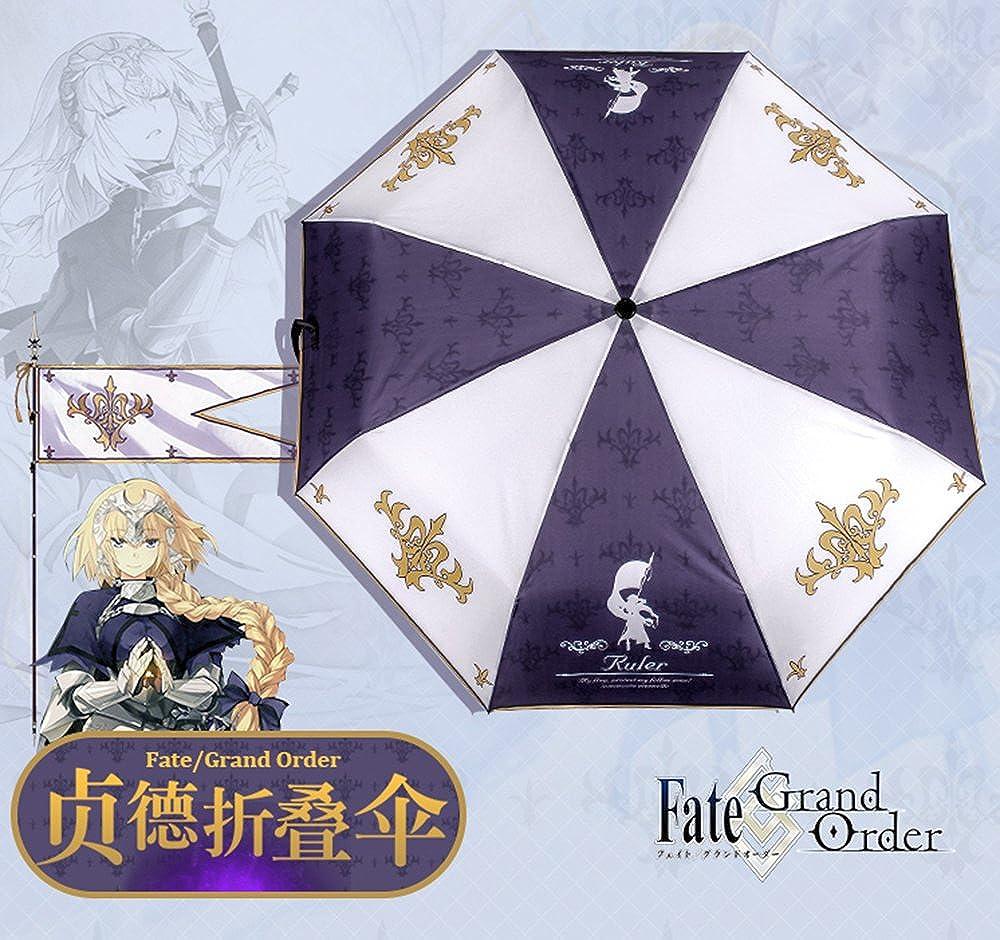 Rains Pan Anime Fate Grand Order Cosplay Windproof Sun Mini Folding Umbrella 8 Ribs