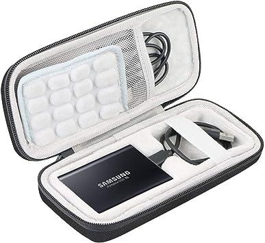 Khanka Duro Viaje Estuche Bolso Funda para Samsung T5 250GB 500GB 1TB 2TB Disco Estado sólido SSD Externo (Long): Amazon.es: Electrónica
