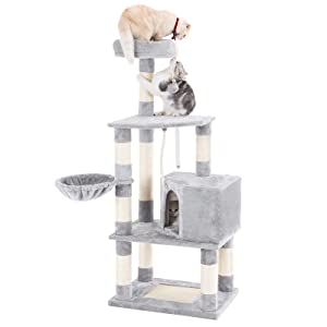 "SONGMICS 58"" Multi-Level Cat Tree with"
