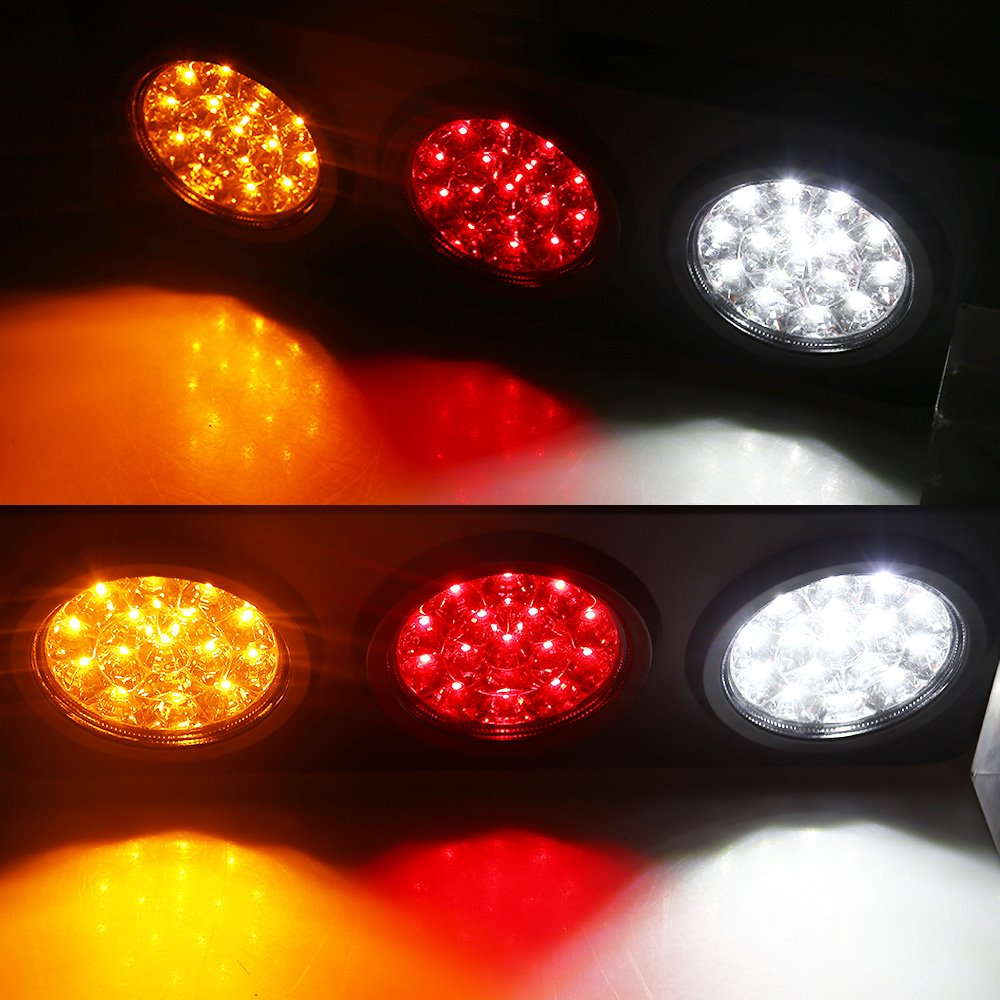 LED Truck//Trailer Tail Lights with Iron Bracket Base Waterproof DC12-24V 44-LED Tail Light Bar for Turn//Signal//Running Lamps Fits any Truck//RV//Camper//Trailer etc 2 PCS