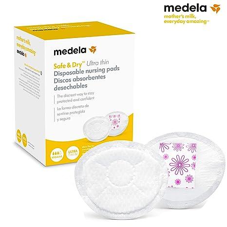 Medela Discos absorbentes desechables Safe & DryTM Ultra thin 30 unidades - Discos absorbentes desechables, 30 uds