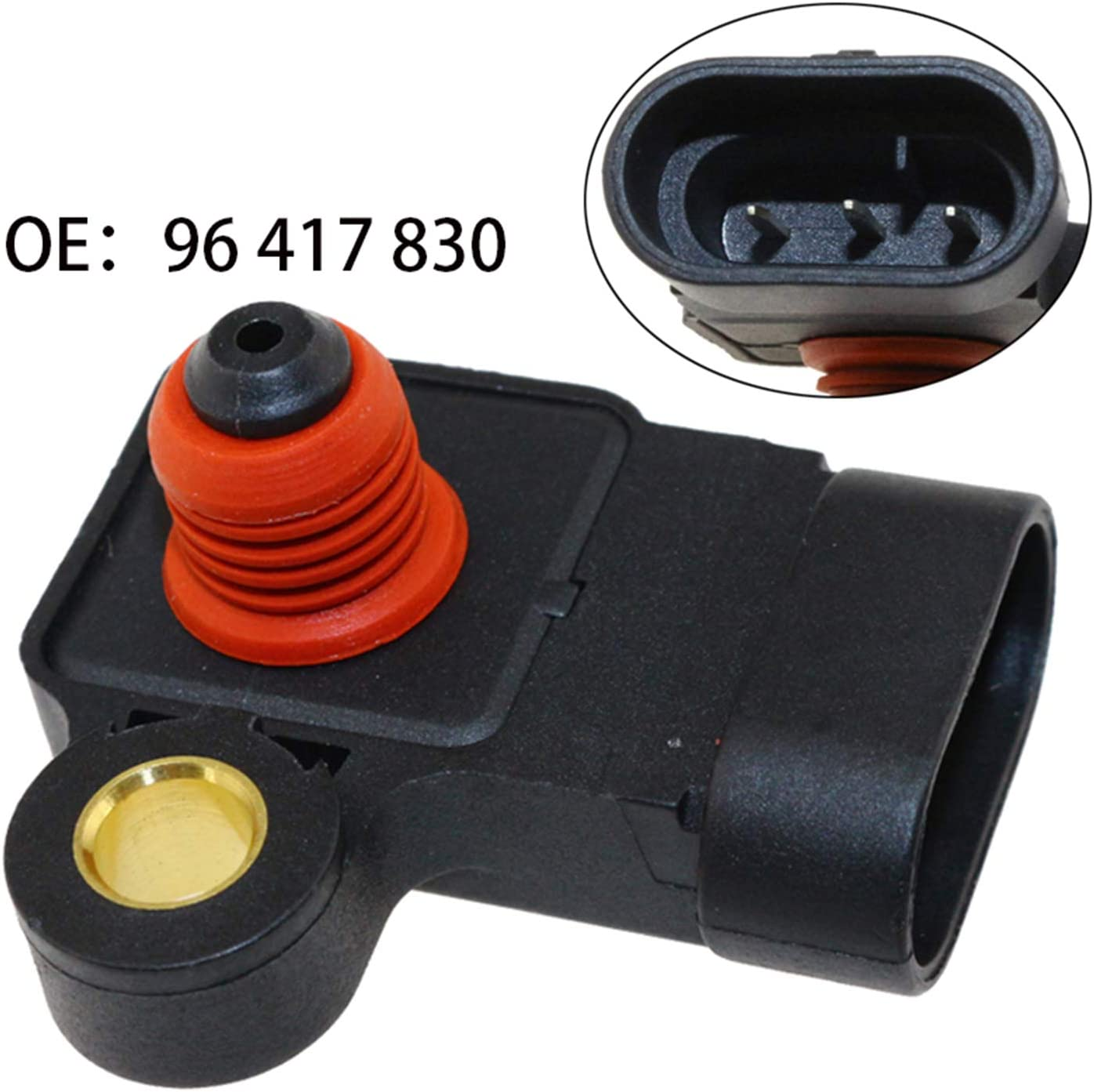 HiSport Manifold Absolute Pressure MAP Sensor 96417830 Compatible with Chevy Aveo Daewoo Nubira Lacetti Kalos