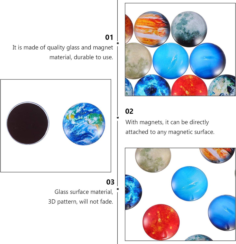 Beautiful Glass Creative Pushpins for Whiteboard Office Calendar Decorative Popular Home Wall D/écor Set SOLUSTRE 12PCS Space Magnet Set