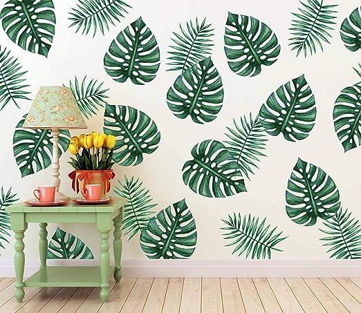 Gran Palmera Verde Etiqueta De La Pared Calcomanía Mural ...
