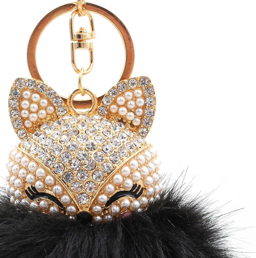 bolso bolso de coche llavero colgante adornos Tong Yue Llavero de pelota de pelo para bolso de mano