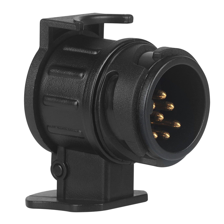 AOAFUN Waterproof 13 to 7 Pin Plug Trailer Caravan Electric Adapter Towbar Towing Socket