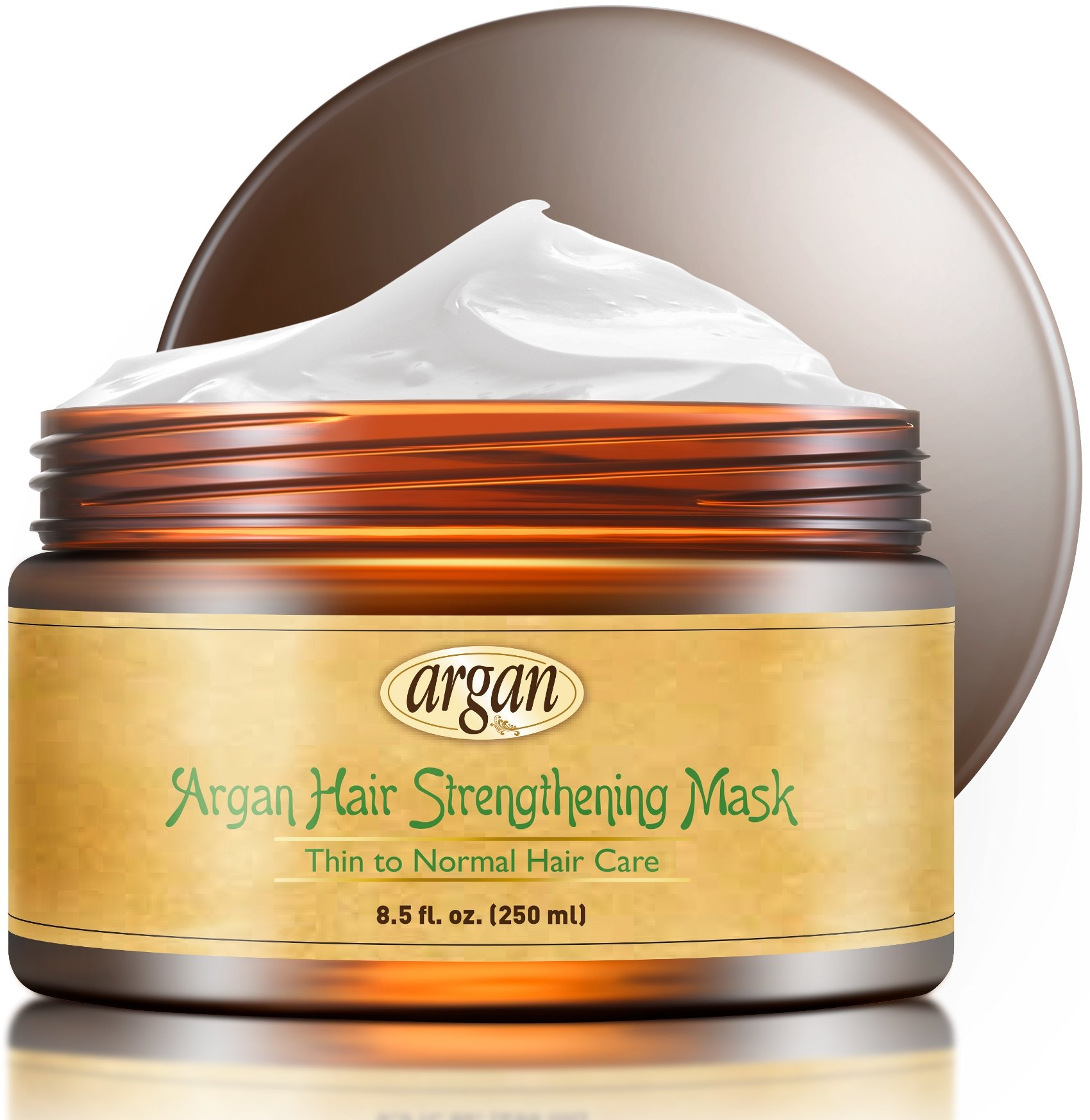 Vitamins Hair Strengthening Mask Deep Conditioner - Thin Fine Hair Care Moroccan Argan Product To Encourage Hair Growth and Reduce Hair Loss