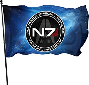 Mass Effect Flag,Garden Flag,Outdoor Flag.Suitable for Garden,Party Event Decorations,Celebration Parade Flags.Holiday Celebration Flag.