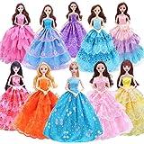 Lukovee Vestidos de Muñeca, 10 Piezas Ropa de Boda para Muñecas Hecha Mano Vestidos de Encaje Hadas de Princesa de…