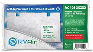 RV Air AC 105G | Replacement RV AC Filter for Dometic 3313107.103/3105012.003 | Replace Standard RV Air Conditioner Filters for Better Airflow and Cleaner Air | MERV 6 Rated - 2 Filters