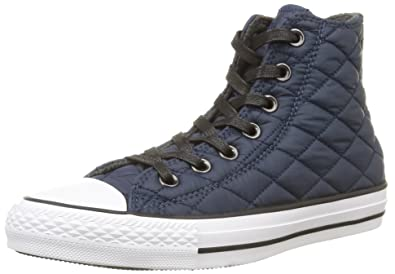 49bd9488545c Converse Mens Chuck Taylor All Star Quilted Nylon Hi Navy Sneaker - 4 Men -  6