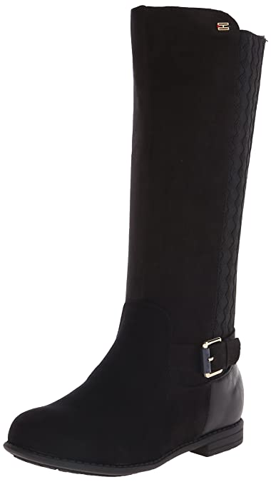 cc151be8b Amazon.com | Tommy Hilfiger Kids Andrea Tall Chelsea Riding Boot  (Toddler/Little Kid/Big Kid), Black, 8 M US Toddler | Boots
