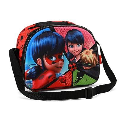 Bagages Sacs scolaires, cartables et trousses Ladybug Split-3D Frühstückstasche Cartable Rouge