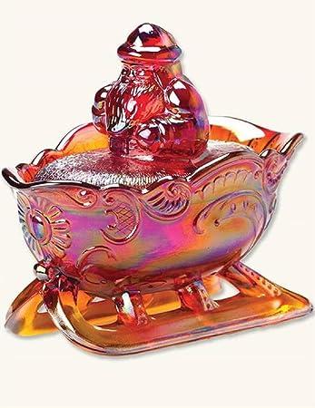 amazon victorian trading co虹色レッドカーニバルガラスsanta candy