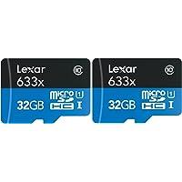 2-Pk. Lexar BC77818 32GB MicroSDHC Card