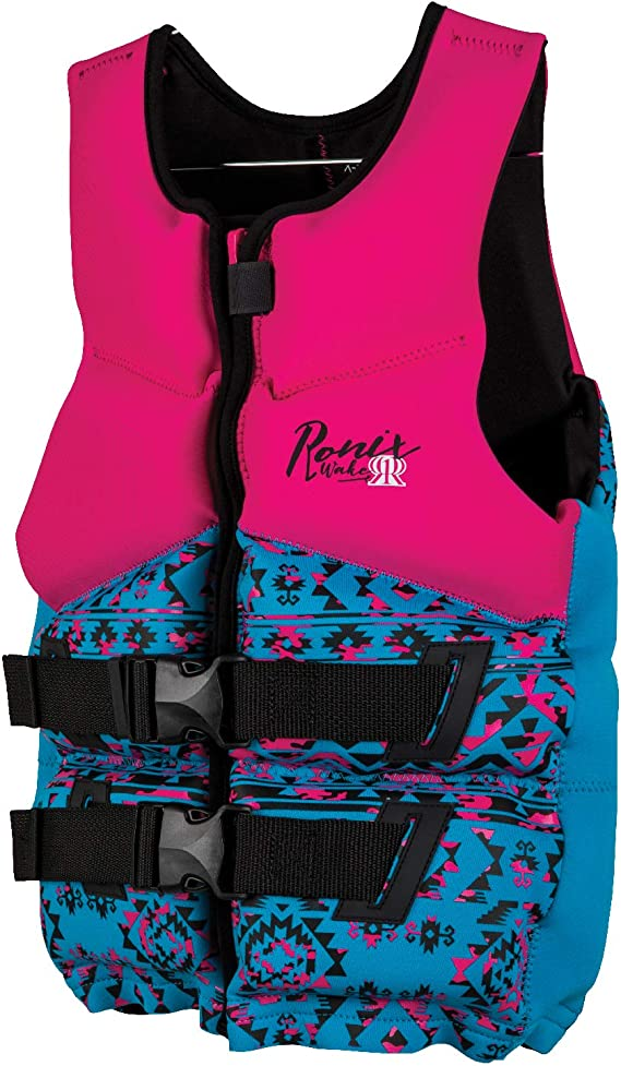 Pink//Turquoise Ronix Prom Queen/Capella 75-125lbs 2019 Teen 2.0 CGA Life Vest