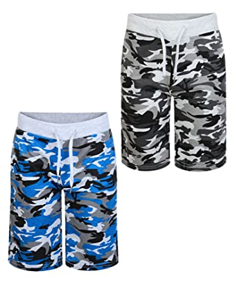 eac646bb78 Kids Jersey Camouflage Shorts V-231 Bundle Pack of 2 in Blue and Grey  Colours