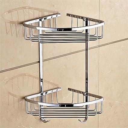 Acciaio inossidabile bagno bagno rack angolo triangolo bagno rack hardware accessori  doccia doppia stanza triangolare di