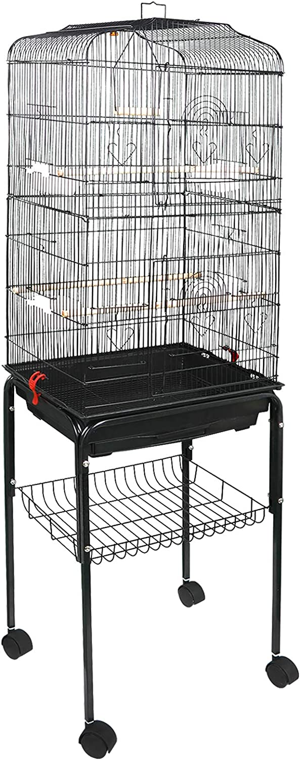 ZENY 59.3'' Bird Cage with Rolling Stand