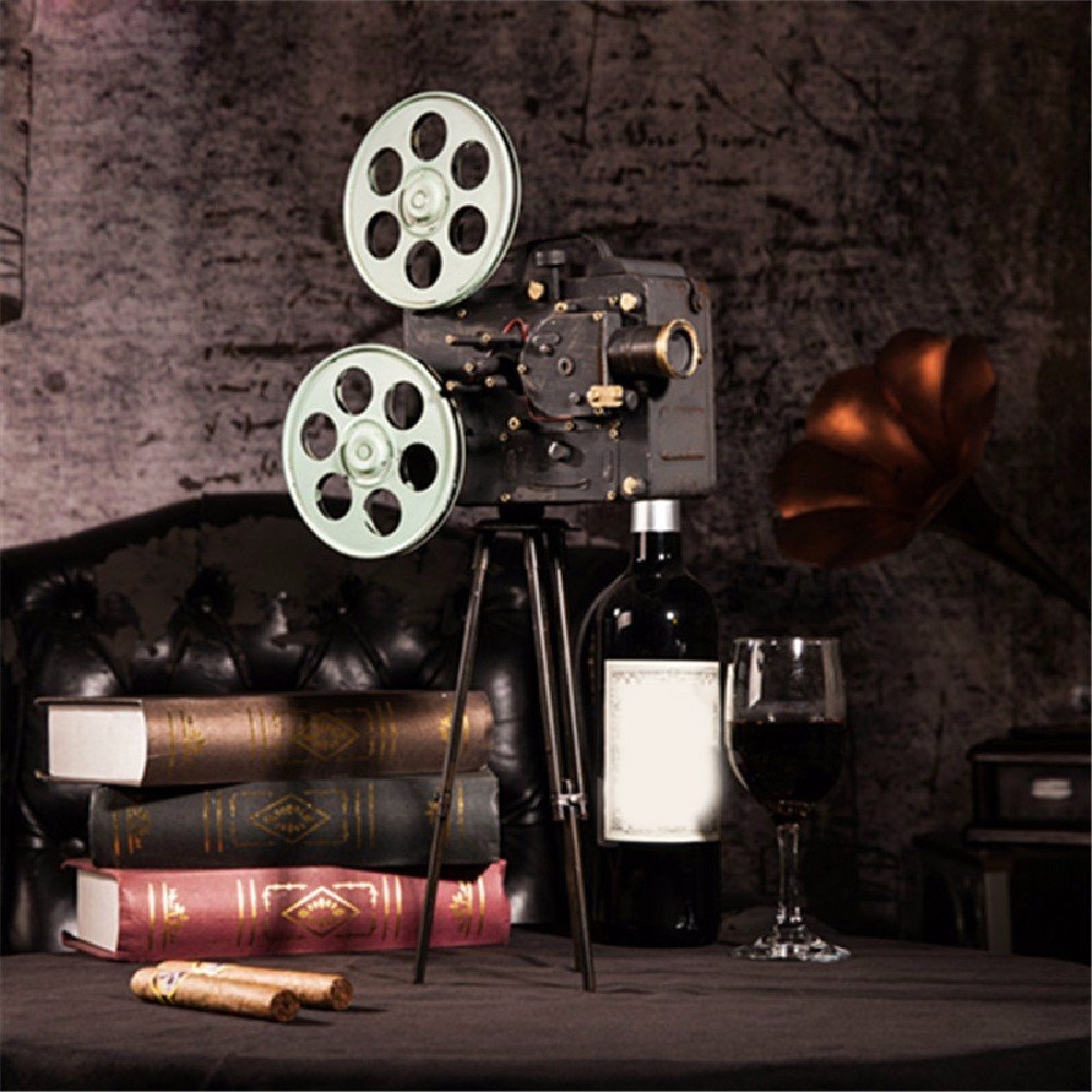WAWZJ Home Furnishing Vintage Jewelry Ornaments Movie Projector Model Photography Props Window Gift
